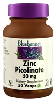 Zinc Picolinate - 50 mg - 50 Vegetable Capsules - Bluebonnet Nutrition