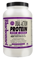 100% Natural Dual Action Protein Natural Original - 2.1 lbs - Bluebonnet Nutrition
