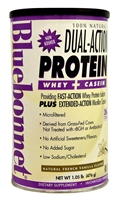 100% Natural Dual Action Protein Natural French Vanilla - 1.05 lbs - Bluebonnet Nutrition