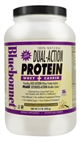 100% Natural Dual Action Protein Natural French Vanilla - 2.1 lbs - Bluebonnet Nutrition