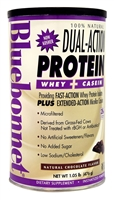 100% Natural Dual Action Protein Natural Chocolate - 1.05 lbs - Bluebonnet Nutrition