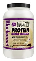 100% Natural Dual Action Protein Natural Chocolate - 2.1 lbs - Bluebonnet Nutrition