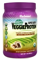 Super Earth VeggieProtein Chocolate - 1 lb - Bluebonnet Nutrition
