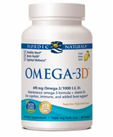 Omega-3D Lemon - 1000 mg - 60 Softgels - Nordic Naturals