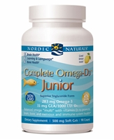 Complete Omega-D3 Junior Lemon - 500 mg - 90 Softgels - Nordic Naturals