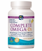 Complete Omega D3 Lemon - 1000 mg - 60 Softgels - Nordic Naturals
