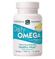 Daily Omega with Vitamin D3 - 1000 mg - 30 Softgels - Nordic Naturals