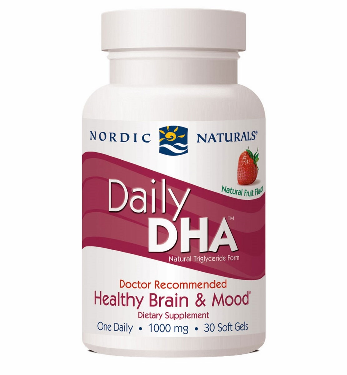 Daily Dha Strawberry 1000 Mg 30 Softgels Nordic Naturals Arctic Cod Liver Oil Lemon