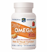 Daily Omega Kids Strawberry - 500 mg - 30 Chewable Softgels - Nordic Naturals