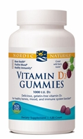 Vitamin D3 Gummies Wild Berry - 1000 IU - 120 Gummies - Nordic Naturals
