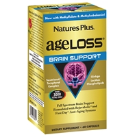 AgeLoss Brain Support Capsules - 60 Count Bottle (30 Servings) - Natures Plus