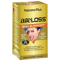 AgeLoss Skin Support Tablets - 90 Count Bottle (30 Servings) - Natures Plus