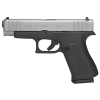 GLOCK G48 9MM 10RD CAPACITY, SILVER nPVD SLIDE, WITH 2 MAGAZINES