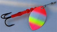Size 5 FB Series Spinner/Rainbow w/Pink Tip