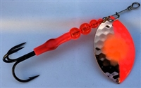 Size 5 FB Series Spinner/Hex Copper/Flame 5050 w/Orange Dot