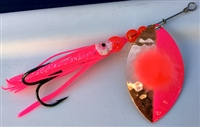 Top Line Size 6 FB Series Spinner/Hex Copper/Pink w/Red Dot--Pink Skirt