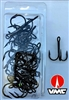 Size 1/0 VMC 9650 Coastal Black Nickel Treble Hook/25 Back