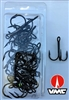 Size 2/0 VMC 9650 Coastal Black Nickel Treble Hook/25 Back