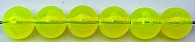 Size 10mm Round Bead/Transparent Chartreuse UV/50 Pack