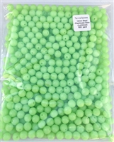 10mm Chartreuse Glow (Luminous) Bead/500 Pack