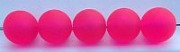 "Size 10mm Round Bead/""Cloudy"" Pink/50 Pack"