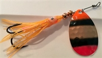 "Size 5 B-10 Series Spinner/Copper w/Orange/Black & Red  AKA ""Judge"" Orange Skirt"
