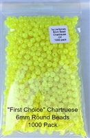 6mm Chartruese UV Bead/1000 Pack