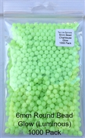 6mm Chartreuse Glow (Luminous) Bead/1000 Pack