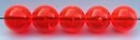 Size 8mm Round Bead/Fluorescent Red/50 pack