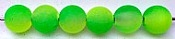 "Size 8mm Round Bead/""Cloudy"" Lemon-Lime Two-Tone/50 pack"