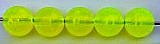 Size 8mm Round Bead/First Choice Chartruese/50 pack