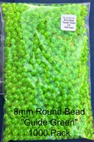 "8mm ""Guide Green"" UV Bead/1000 Pack"