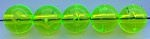 Size 8mm Round Bead/Clear Guide Green/50 pack