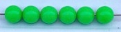 Size 8mm Round Bead/Solid Lime Green UV/50 pack