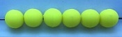 Size 8mm Round Bead/Solid Chartruese UV/50 pack