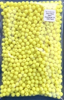 8mm Neon Chartruese UV Bead/1000 Pack