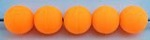 Size 8mm Round Bead/Solid Neon Orange UV/50 pack