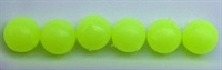 Size 8mm Round Bead/Glow Bead--Chartreuse/50 pack