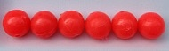 Size 8mm Round Bead/Glow Bead--Red/50 pack