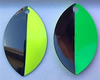 "Size 5 FB Series Blade/""Strobe"" Chartruese Front/Green Back/2 Pack"