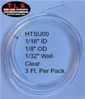 "Tubing--1/8"" O.D. Special Use/Clear/3 Feet Per Pack"