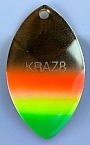 "Size 3.5 KRAZ8 Series Blade/Brass ""Mexican Hat""/2 Pack"