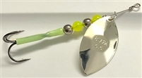 Size 5.5 KRAZ8 Series Spinner/Silver w/Chartreuse