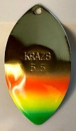 "Size 5.5 KRAZ8 Series Blade/Brass ""Mexican Hat""/2 Pack"