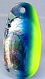 Size 3 RATLER French Blade/Holographic SG w/Chartreuse & Blue Edge /3 Pack