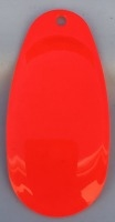 Size 6 RATLER French Blade/Fluorescent Red Both Sides/3 pack