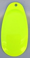 Size 6 RATLER French Blade/Chartreuse Both Sides/3 pack