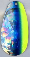 Size 6 RATLER French Blade/ Holographic SG w/Chartreuse & Blue Edge/2 pack