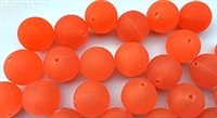 Size 12mm Round Bead/Steelhead Orange UV/100 Pack