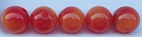 Size 12mm Round Bead/Two Tone Orange/Red UV/100 Pack